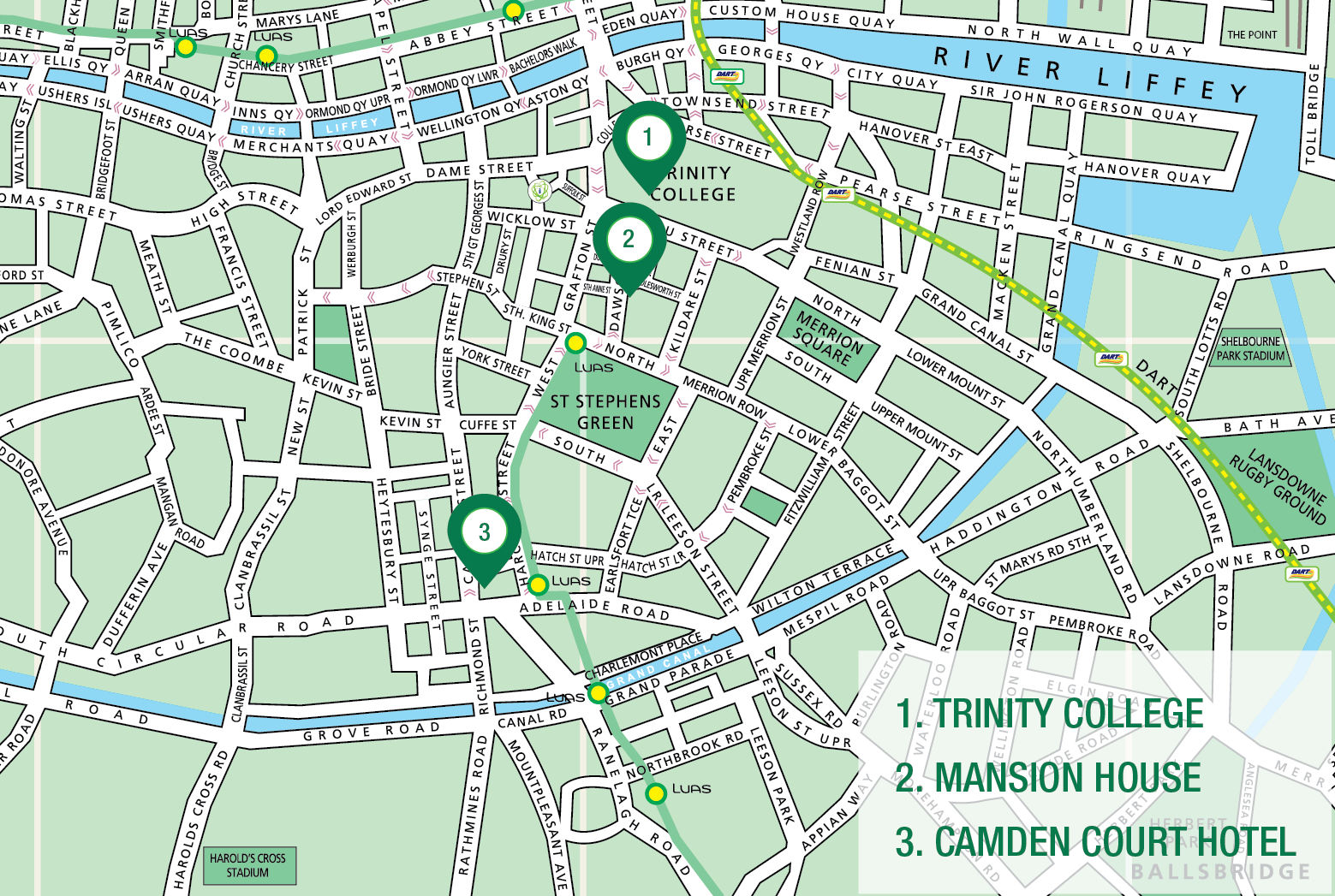 thesis centre dublin map